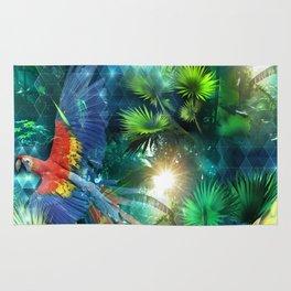 Macaw Jungle Rug