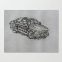 audi Canvas Prints featuring Audi by Tony Padavich