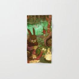 gay rabbits camping Hand & Bath Towel