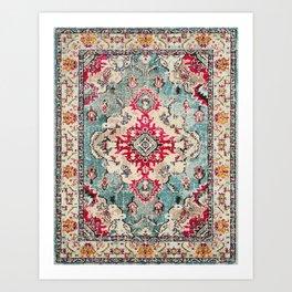 N132 - Heritage Oriental Traditional Vintage Moroccan Style Design Art Print
