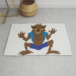 Retro Werewolf Cartoon Rug