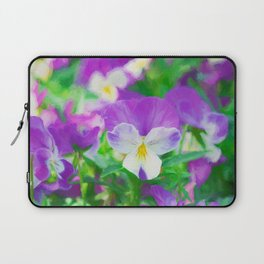 purple pansy in late spring Laptop Sleeve
