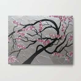pink and silver Metal Print