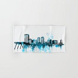 Richmond Monochrome Blue Skyline Hand & Bath Towel