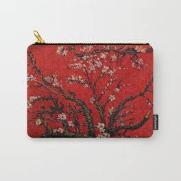 Almond Tree in Blossom - Red Motif by Vincent van Gogh Carry-All Pouch