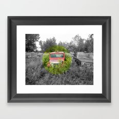 Empty Jeep Framed Art Print