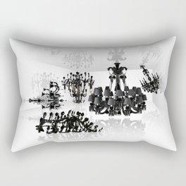 White room - black chandeliers. Rectangular Pillow