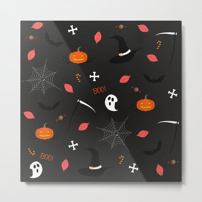 Halloween Pattern Metal Print