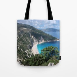 Myrtos beach, Kefalonia - Greece Tote Bag