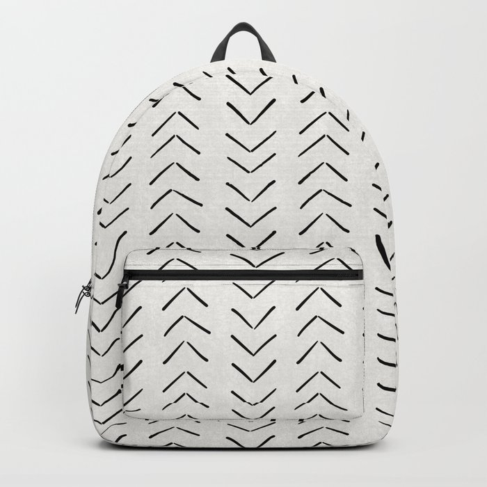 Mud Cloth Big Arrows in Cream Rucksack