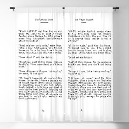 Becoming Real, Velveteen Rabbit Quote Blackout Curtain