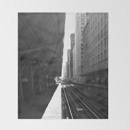 Chicago Subway  Throw Blanket