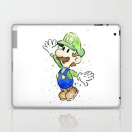 Luigi Watercolor Mario Nintendo Art Laptop & iPad Skin