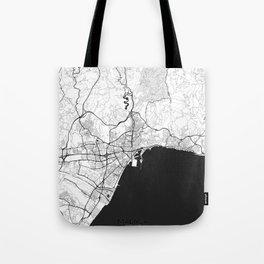 Malaga Map Gray Tote Bag