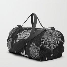 Snowflake Pattern (Black) Duffle Bag
