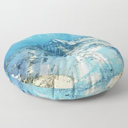 Adventure. The mountains are calling, and I must go. John Muir. Floor Pillow