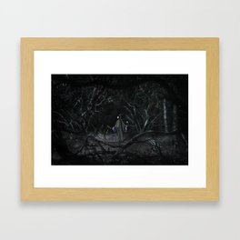 The Wolf and the Fairy by The Labs & Co. Framed Art Print
