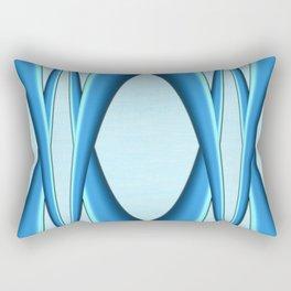 Two Tone Blue Modern Digital Art Rectangular Pillow