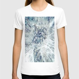 AERIAL. Frozen forest in winter T-shirt