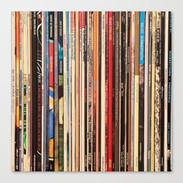 Alt Country Rock Records Canvas Print