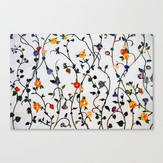 FLORAL AND VINE ABSTRACT PATTERN Canvas Print