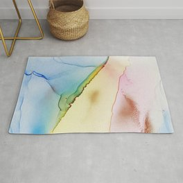 Abstract hand painted alcohol ink texture Rug