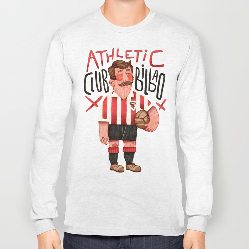 save off f2aa3 f9789 Athletic Club Bilbao Long Sleeve T-shirt by lawerta