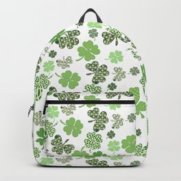 St. Patrick's Day Green Shamrock Clover Backpack