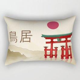 Torii Gate - Painting Rectangular Pillow