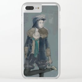 Fashion Illustration Clear iPhone Case
