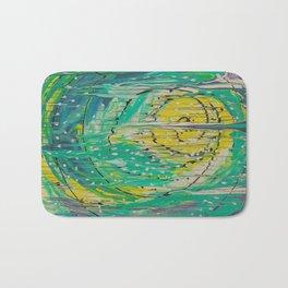 Free abstract Bath Mat