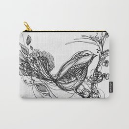 Bird Between the Lines Carry-All Pouch