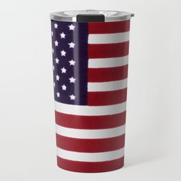 American flag with painterly treatment Travel Mug