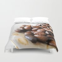 coffee Duvet Covers featuring Coffee by Vitta