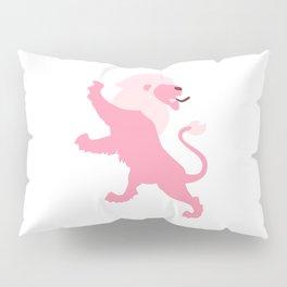 Pink Lion Pillow Sham