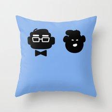 mr. fredricksen & russell Throw Pillow