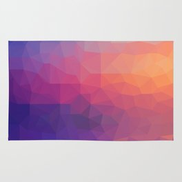 Sunset Low Poly Rug