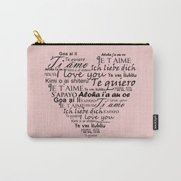 Heart I love you in other languages Carry-All Pouch