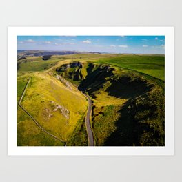 Amazing road in the English countryside Art Print