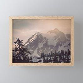 Pink Mountain Morning - Nature Photography Framed Mini Art Print