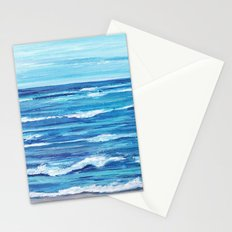 Choppy Ocean Painting Stationery Cards