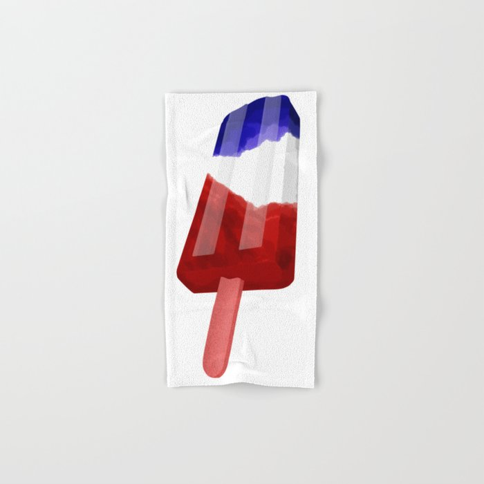 Popsicle Red White and Blue Hand & Bath Towel