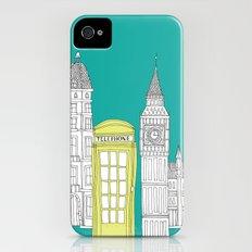 London - City prints // Red Telephone Box Slim Case iPhone (4, 4s)