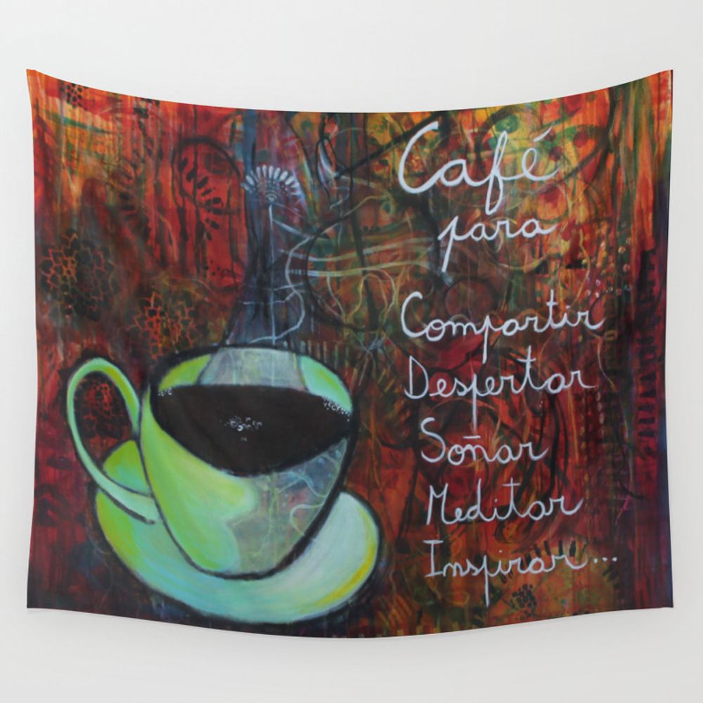 My Cup Of Coffee Wall Tapestry by Gabrielagausachs TPS4411418