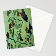 wildflowers and butterflies Stationery Cards