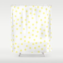 Simply Dots in Pastel Yellow Shower Curtain