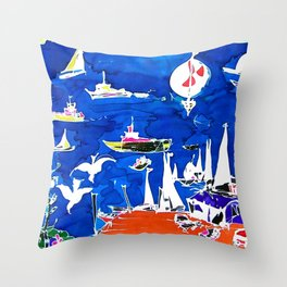 The Marina, Southport, Qld. Australia                 by Kay Liptpon Throw Pillow