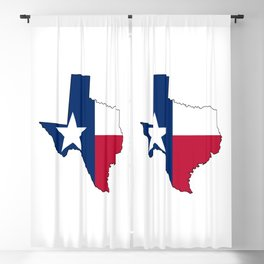 Texas Map Outline and Flag Blackout Curtain