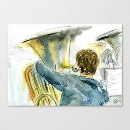 Tuba & Boy Canvas Print