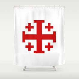 Jerusalem Cross 8 Shower Curtain